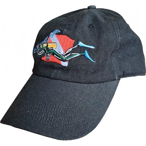 """Καπέλάκι τζόκεϋ TRIDENT """"ΔΥΤΗΣ"""" βαμβακερό μαύρο"""