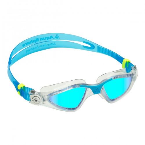 ΓΥΑΛΑΚΙΑ AQUA SPHERE KAYENNE Clear / Turquoise - Lens Polirized mirror blue